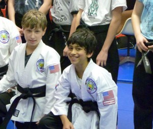 Benji gets his blackbelt